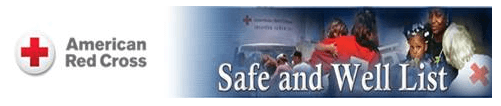 Safe and Well List - Red Cross Logo