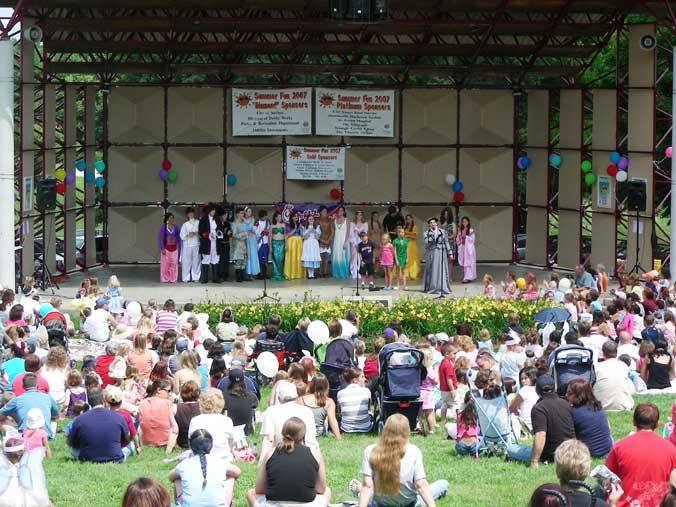 Photo of families watching a performance at a previous Fairy Tale Festival