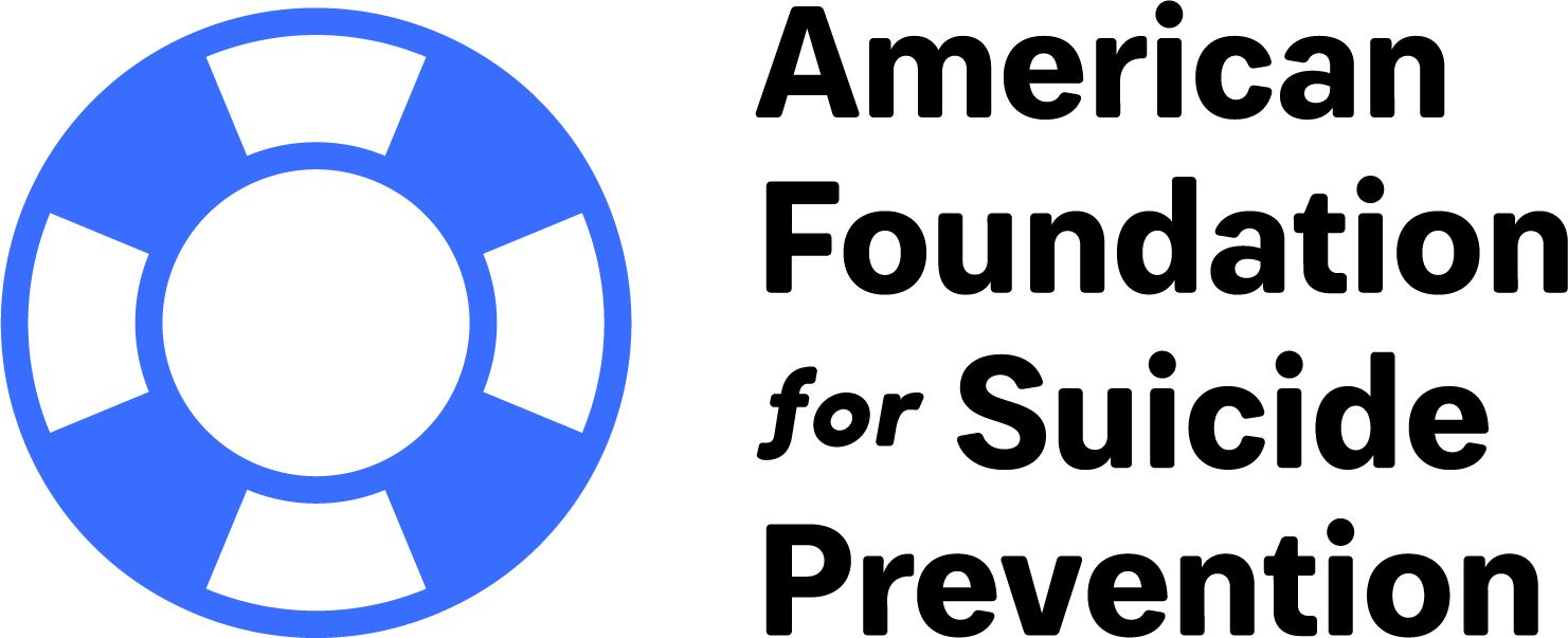 Black font on the right reading foundation name, and blue/white life preserver ring to the left