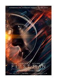Movie poster with close up image of astronaut