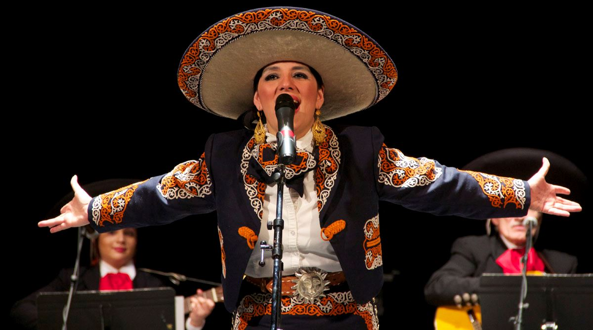 Image of performer in mariachi outfit