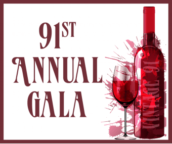 White background with event name in red font and image of wine bottle and wine