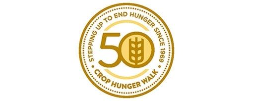 Image of gold logo featuring 50 to celebrate 50 years of walk