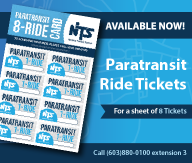 Paratransit Ticket Sheets Available