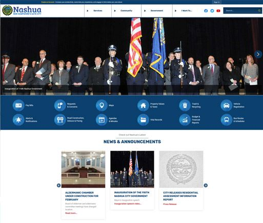 NashuaNH.gov new design thumbnail
