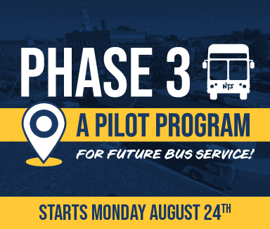 Phase 3 Pilot Program of future bus service starts 8/24/2020