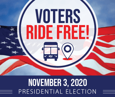 Voters ride NTS FREE - Presidential Election November 3rd, 2020