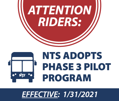 NTS Adopts Phase 3 Pilot. Effective 1/31/21