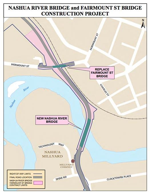 River Bridge and Fairmount Street Bridge Map