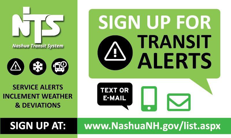 Sign up for Transit Alerts Flyer - Email or text notifications