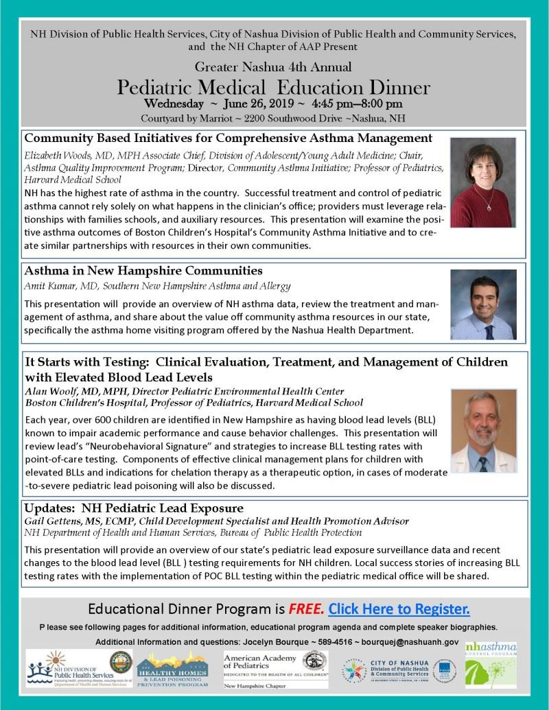 NH Pediatric Medical Education Event - Nashua June-26-2019_