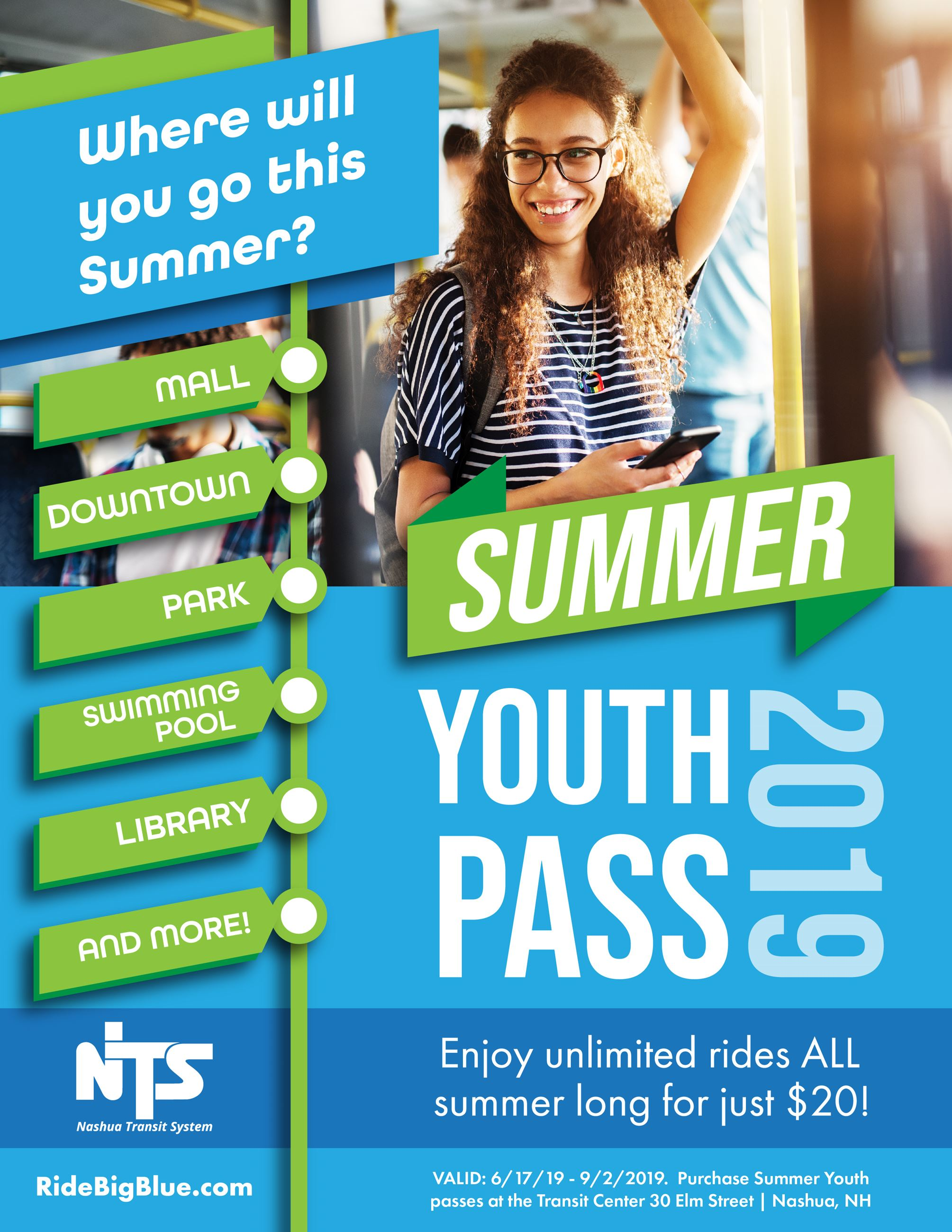 Summer Youth Pass Flyer