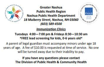 Immunization Clinic Hours and Dates