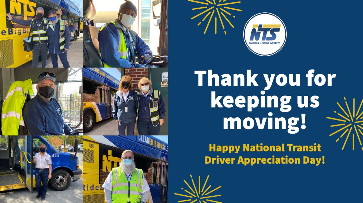Pictures of NTS Drivers. Thank you for keeping us moving! Happy Transit Driver Appreciation Day!