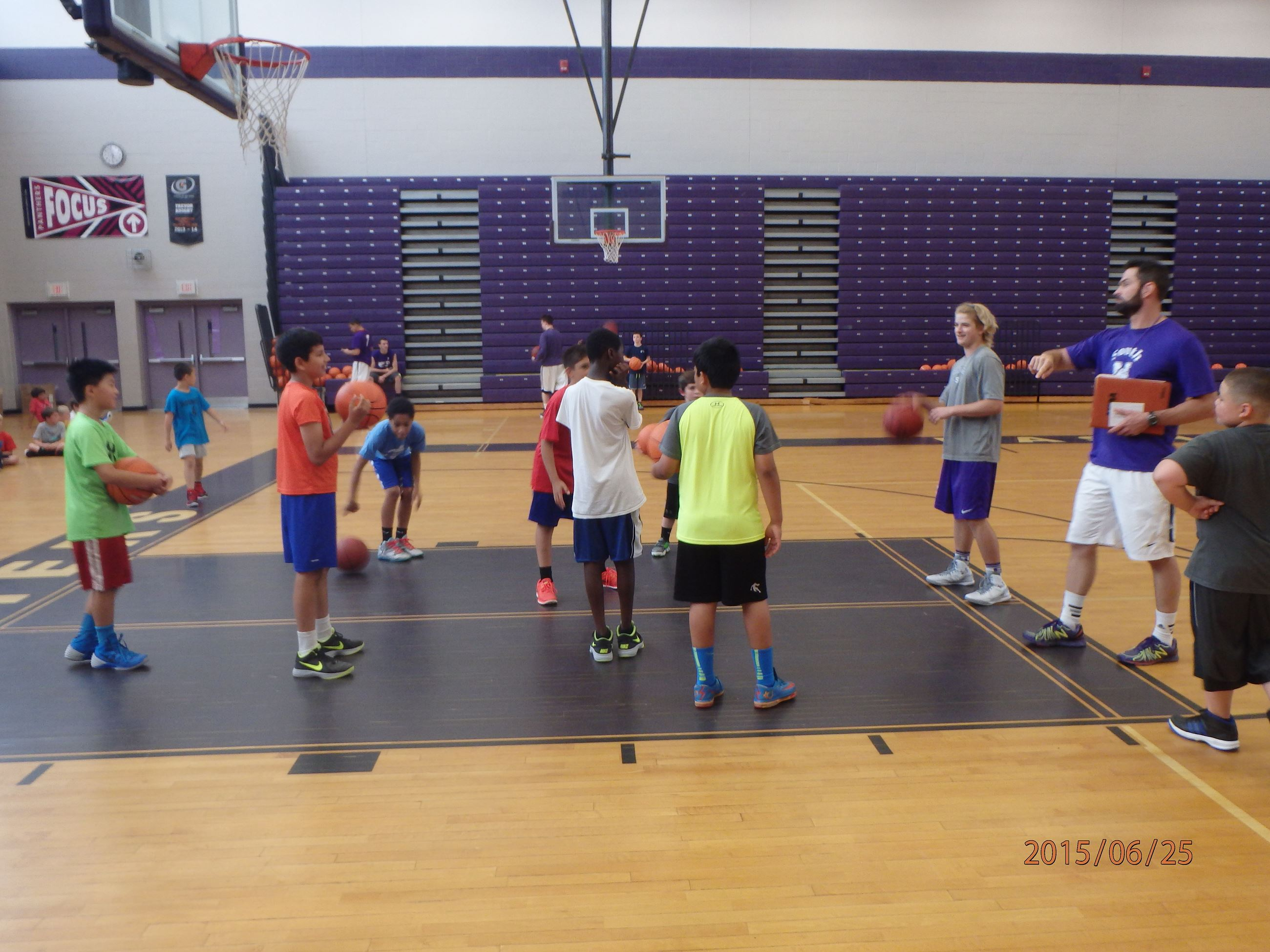 Boys Basketball Camp with Coach Mazerolle.