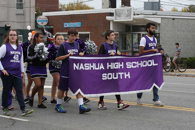 Nashua High School South Marching in Parade